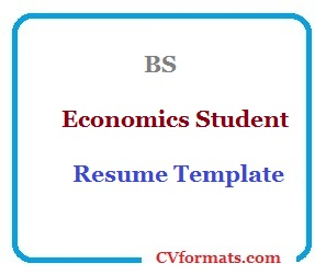 BS Economics Student Resume Template CV formats templates and cv