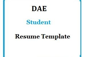 DAE Student Resume Template