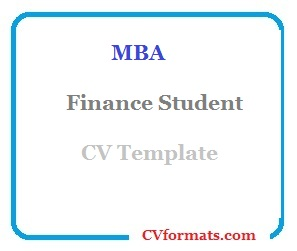 MBA Finance Student CV Template-02