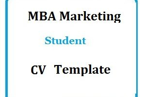 MBA Marketing Student Cv Template