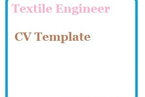 Textile Engineer CV Template