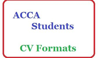 ACCA Students CV Templates