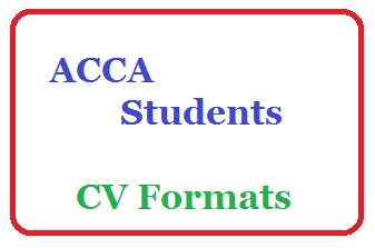 Acca student cv template cv formats templates and cv sample acca students cv templates yelopaper Image collections