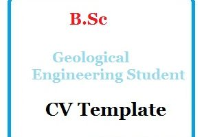 B.Sc Geological Engineering Student CV Template