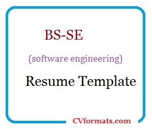 BS-SE (software engineering) Resume Template