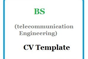 BS (telecommunication Engineering ) CV Template 01