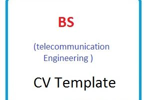 BS (telecommunication Engineering ) CV Template