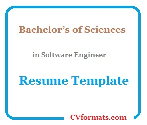 Bachelor's of Sciences in Software Engineer Resume Template