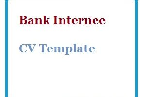 Bank Internee CV Template