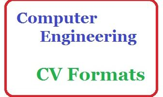 Computer Engineering CV Formats