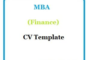 MBA (Finance) CV Template