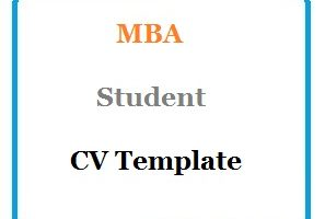 MBA Student CV Template