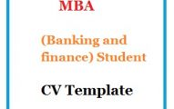 MBA(Banking and finance) Student CV Template